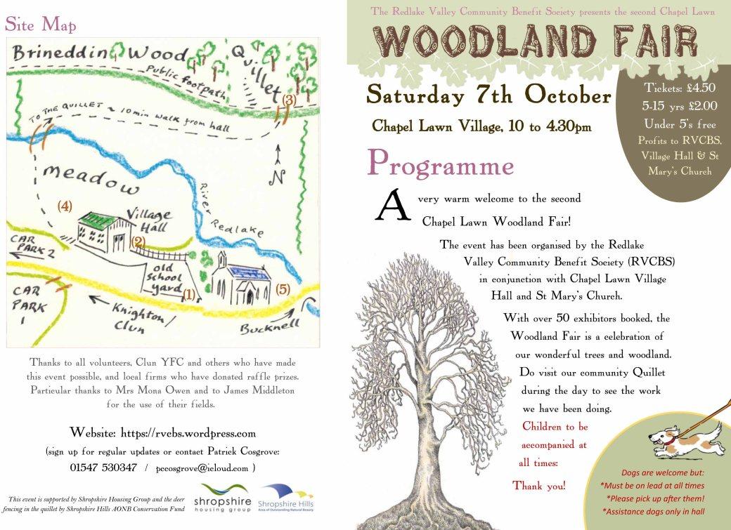 Woodland Fair Programme-1
